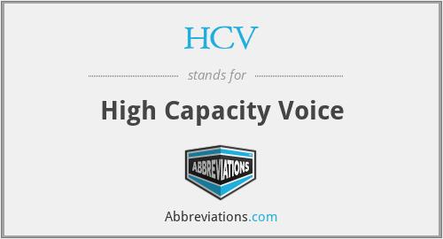 HCV - High Capacity Voice