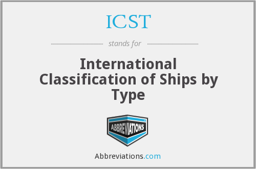 ICST - International Classification of Ships by Type