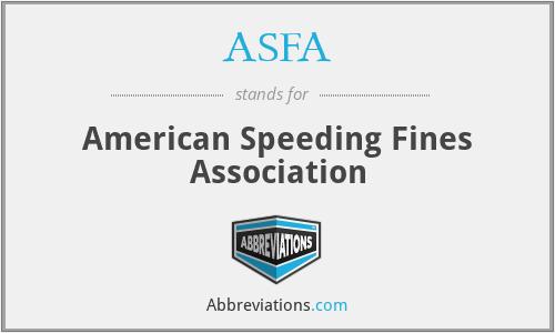 ASFA - American Speeding Fines Association