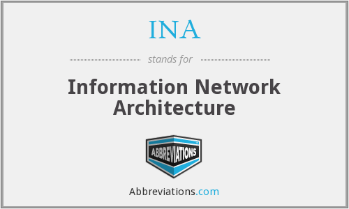 INA - Information Network Architecture