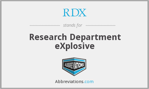RDX - Research Department eXplosive