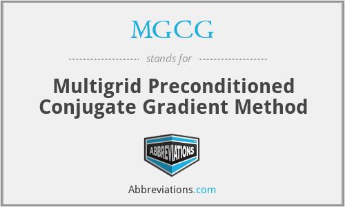 MGCG - Multigrid Preconditioned Conjugate Gradient Method