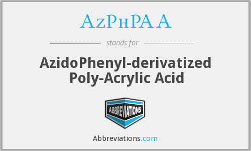 AzPhPAA - AzidoPhenyl-derivatized Poly-Acrylic Acid