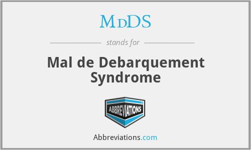 MdDS - Mal de Debarquement Syndrome