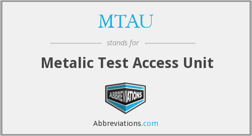MTAU - Metalic Test Access Unit