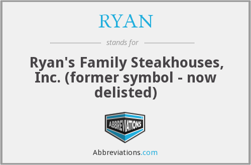 RYAN - Ryan's Family Steakhouses, Inc. (former symbol - now delisted)
