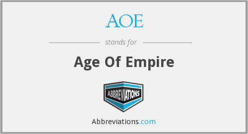 AOE - Age Of Empire