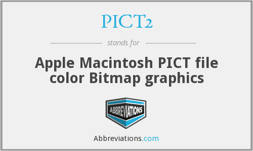 PICT2 - Apple Macintosh PICT file color Bitmap graphics