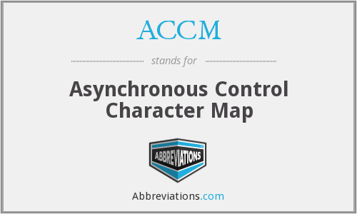 ACCM - Asynchronous Control Character Map