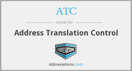ATC - Address Translation Control