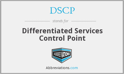 DSCP - Differentiated Services Control Point