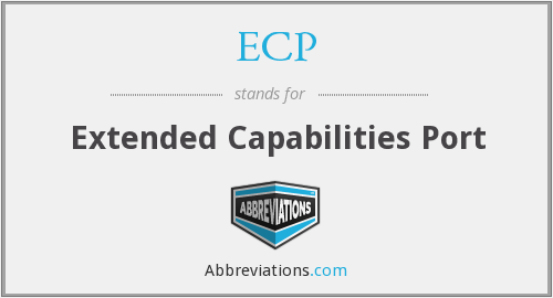 ECP - Extended Capabilities Port