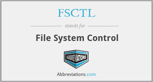 FSCTL - File System Control
