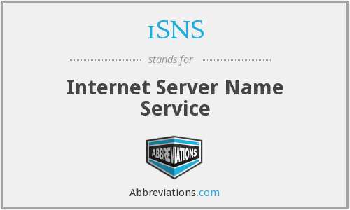 iSNS - Internet Server Name Service