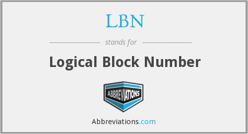 LBN - Logical Block Number