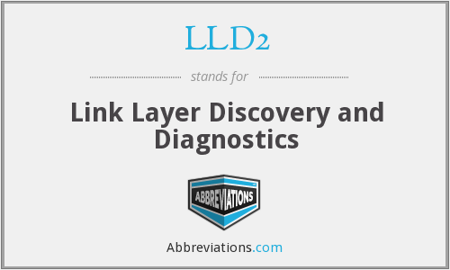 LLD2 - Link Layer Discovery and Diagnostics