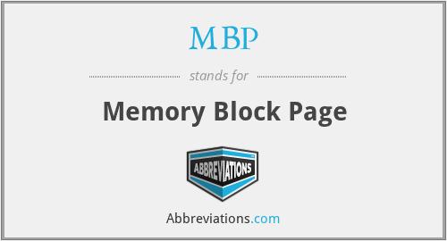 MBP - Memory Block Page