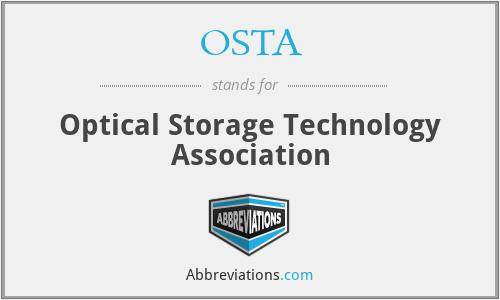 OSTA - Optical Storage Technology Association