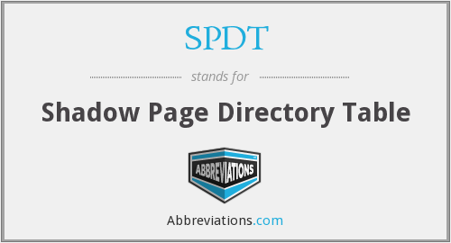 SPDT - Shadow Page Directory Table