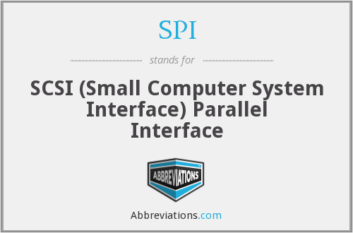 SPI - SCSI (Small Computer System Interface) Parallel Interface