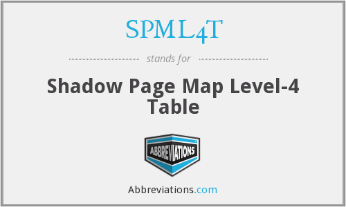 SPML4T - Shadow Page Map Level-4 Table