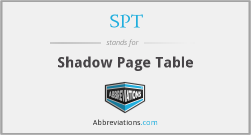 SPT - Shadow Page Table