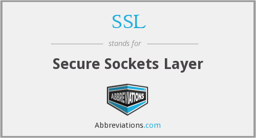 SSL - Secure Sockets Layer
