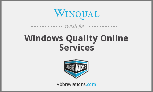 Winqual - Windows Quality Online Services