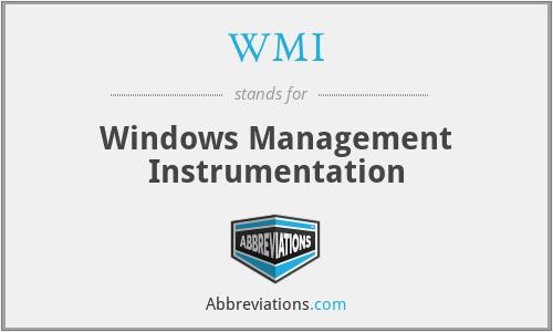 WMI - Windows Management Instrumentation