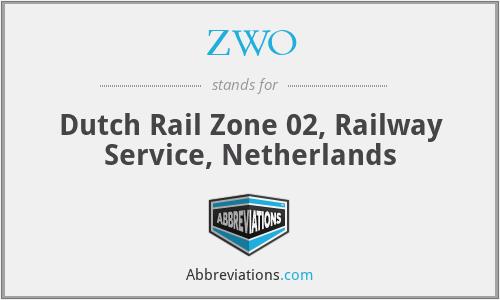 ZWO - Dutch Rail Zone 02, Railway Service, Netherlands