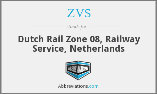 ZVS - Dutch Rail Zone 08, Railway Service, Netherlands