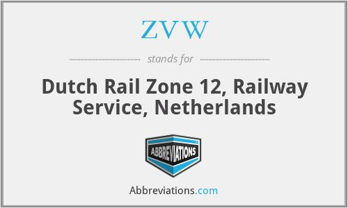 ZVW - Dutch Rail Zone 12, Railway Service, Netherlands