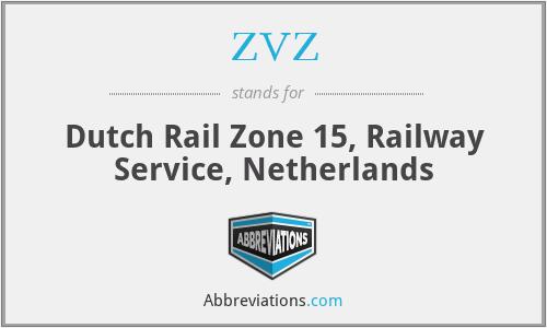 ZVZ - Dutch Rail Zone 15, Railway Service, Netherlands