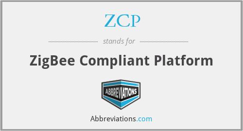 ZCP - ZigBee Compliant Platform