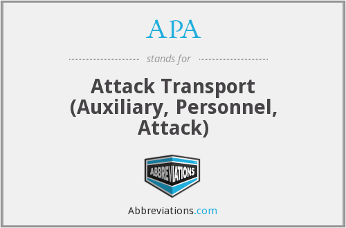 APA - Attack Transport (Auxiliary, Personnel, Attack)