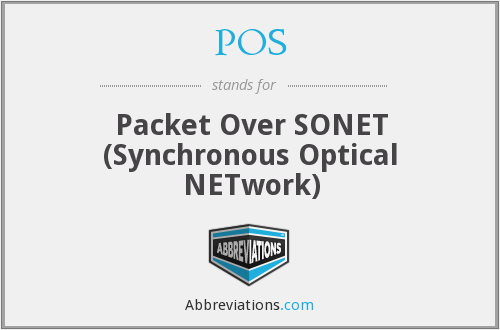 POS - Packet Over SONET (Synchronous Optical NETwork)