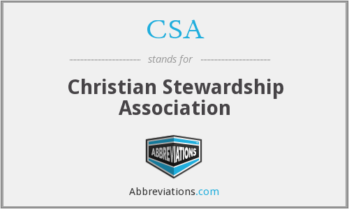 CSA - Christian Stewardship Association
