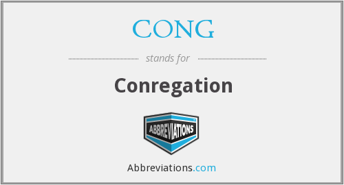 What does CONG. stand for?