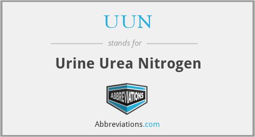 UUN - Urine Urea Nitrogen