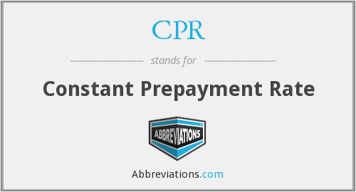 CPR - Constant Prepayment Rate
