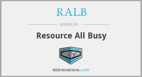 RALB - Resource All Busy