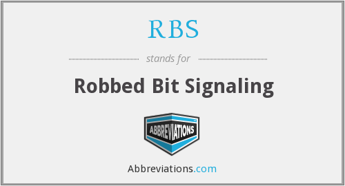 RBS - Robbed Bit Signaling