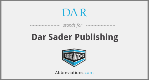 DAR - Dar Sader Publishing
