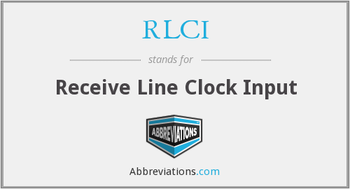 RLCI - Receive Line Clock Input