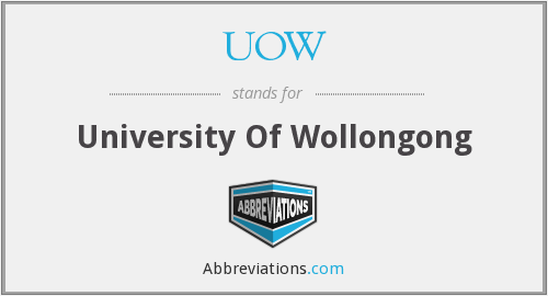 What does UOW stand for?