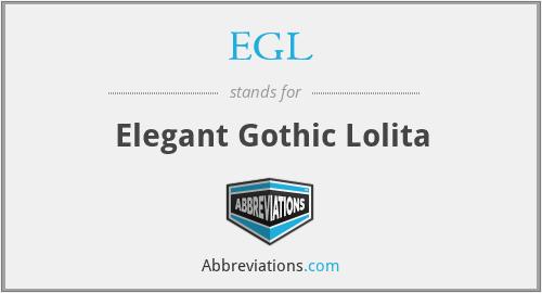 EGL - Elegant Gothic Lolita