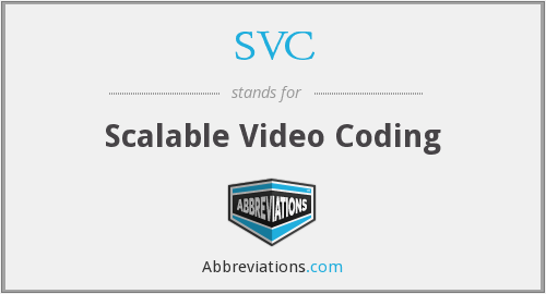 SVC - Scalable Video Coding