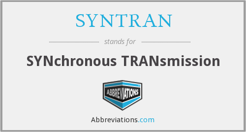 SYNTRAN - SYNchronous TRANsmission