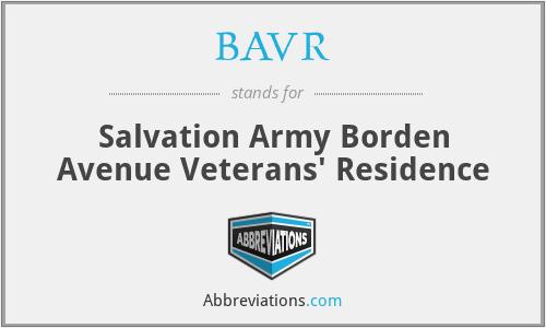 BAVR - Salvation Army Borden Avenue Veterans' Residence