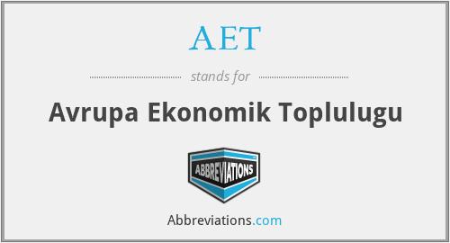 AET - Avrupa Ekonomik Toplulugu